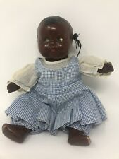 Black Composition Doll Handpainted Sweet Face Original clothing African American