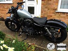 Diamond Negro y Gris se ajusta Harley Sportster Personalizado 883 48 72 Funda De Asiento Delantero