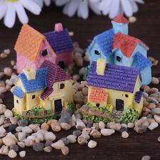 European-style Village Micro Landscape House Resin Crafts Garden Decoration NEW