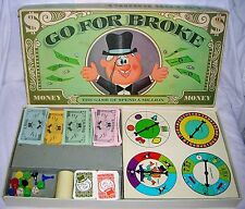 Vintage 1965 SelRight Go For Broke Family Game Spinners Dice Cards Spend Million