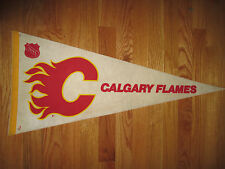 "Vintage 70s CALGARY FLAMES Logo 30"" Pennant"