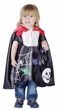 VAMPIRE CAPE TODDLER KIDS FANCY DRESS HALLOWEEN CHILDREN PARTY COSTUME 2-4