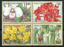 Endangered Species mnh block of 4 stamps 1996 UN Geneva #283a flowers