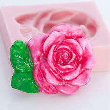 Floral Rose Silicone Mold Soap Wax Candle Chocolate Fondant Clay PMC Mold (503)