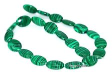 HEDGE MAZES MALACHITE GEMSTONE GREEN OVAL 18X13MM LOOSE BEADS 15.5""