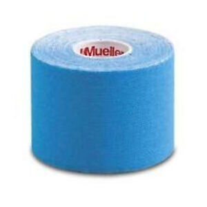 """NEW Mueller Kinesiology Tape Blue 2"""" 16.4' Long Support Training Running Health"""