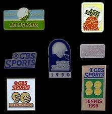CBS SPORTS Media Pin Badge~Lot of 7~Golf~Football~Basketball~Tennis~Dream Season