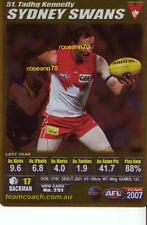 2007 GOLD TADHG KENNELLY  SYDNEY SWANS NEW Teamcoach RARE **reduced**
