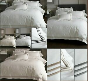 Hotel Quality DEVORE Embroidered Designer Duvet Quilt Cover Bedding Set All Size