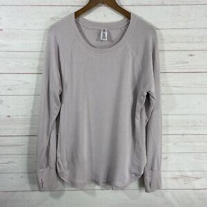 Active Life Long Sleeve Scoop Neck Sweatshirt XL Pale Lilac Soft Modal Blend