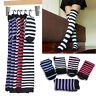 New Women Striped Thigh High Long Over Knee Classic Stripe Print Patterned Socks