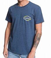 Quiksilver Mens T-Shirt Blue Size Medium M Find Mod Crewneck Logo Tee $25 457
