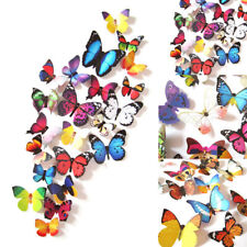 24Pcs DIY Butterfly PVC Art Decal Kids Room Wall Mural Stickers Home Decor Kit