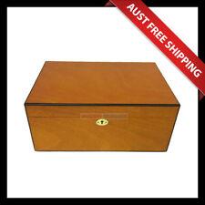 Fairfield Cigar Humidor - Large, 100+ Cedar Cigar Box, Humidifier & Hygrometer