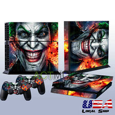 Laughing Face Decal Skin Sticker For Playstation 4 PS4 + 2 Controller Covers USA