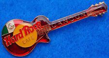 New listing Cancun Mexico Mexican Flag Red Gibson Lp Guitar Clear Enamel Hard Rock Cafe Pin