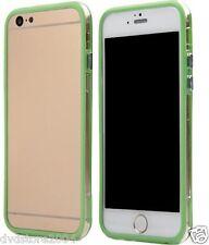Custodia BUMPER VERDE BORDO TRASPARENTE Per Apple iPhone 6 Plus 5.5 Gel Silicone