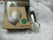 Audio-Technica ATH-RE70 Retro Style Poratble Headphones (White WH)