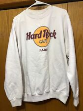 Hard Rock Cafe Paris Pullover Sweater Size XL white