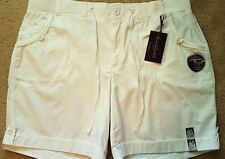 Gloria Vanderbilt Womens Jacky White Walking Bermuda Stretch Shorts Plus 26W
