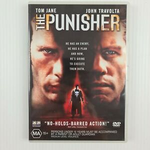 The Punisher DVD - Tom Jane - John Travolta - Region 4 - FREE TRACKED POSTAGE