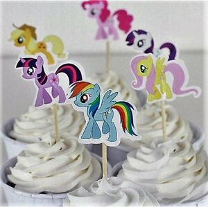 My Little Pony Cupcake Toppers/Picks Baby Shower First Birthday Set Of 24