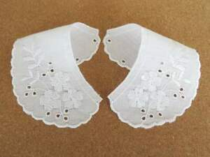 Top quality Small White cotton broderie anglais embroidery lace collars