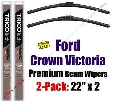Wipers 2pk Premium Wiper Beam Blades - fit 1992-2011 Ford Crown Victoria 19220x2