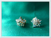 Star Shaped Earrings,Costume Jewellery,Christmas,Snowflake,Gold Coloured,Pretty