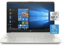 "HP 15.6"" HD LED Touchscreen Laptop 10th Gen i5 8gb x 256gb SSD SILVER Touch"