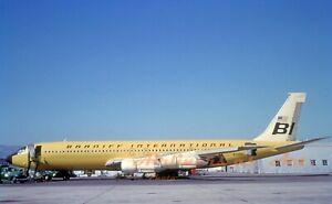 """Braniff International Boeing 707-327C N7096 in 1966 8""""x12"""" Color Print"""