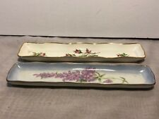 TRAYS--Fine Porcelain Pen / Pin / Jewelry Trays, Flowered