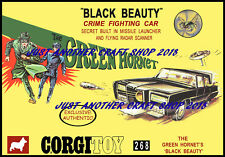 Corgi Toys 268 The Green Hornet 1968 A4 Poster Advert Leaflet Shop Display Sign