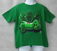 Minecraft Boys Creeper Squad T-Shirt Green Size 4 Free Shipping NWT