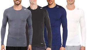 Adidas Men's Techfit Base Layer Long Sleeve Tee, Color Options