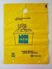 LOT OF 3 Vintage Yellow Pages Phone Book Plastic Bags Indiana Bell Telephone NOS