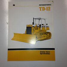 International TD12 Crawler Dozer Sales Literature & specifications.