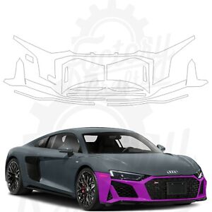 Paint Protection Film Clear PPF for Audi R8 Coupe 2020-2021 Front Bumper