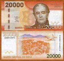 Chile, 20000 (20,000) Pesos, 2013 (2014), P-165-New, AA-Prefix UNC