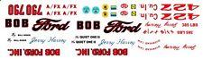 Jerry Harvey Bob Ford Thunderbolt 1964 Drag 1/64th Ho Scale Slot Car Decals