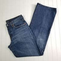 7 For All Mankind Jeans Mens Size 31 Relaxed Straight Leg Button Fly Medium Wash