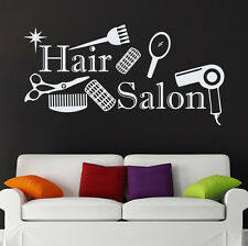 Wall Vinyl Decals Scissors Comb Decal Beauty Hair Hairdressing Salon Decor 95