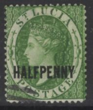 ST.LUCIA SG23 1881 ½d GREEN USED