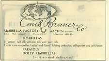 1953 Emile Brauer And Co-umbrella Factory Aachen Ad