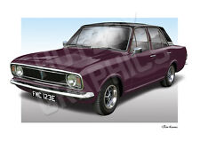 FORD Cortina MK2 Print-ILLUSTRAZIONE personalizzati della tua auto