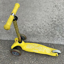 Rare Micro Kickboard Mini Original 3 Wheeled Scooter - Yellow