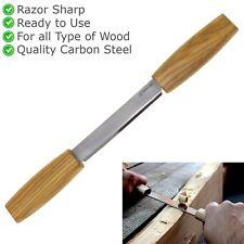 Ziehmesser Zugmesser mit 2 Holzheften Spaltmesser Schnitzwerkzeug Schnitzmesser