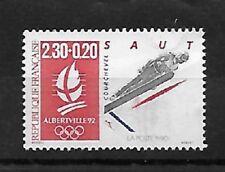 timbre neuf JO Albertville 92 le saut 1990 - YT 2674