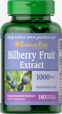 180 Softgels Puritan's Pride Bilberry Fruit Extract 1000mg *Support Eye Health**