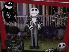 HALLOWEEN NIGHTMARE BEFORE CHRISTMAS AIRBLOWN INFLATABLE JACK SKELLINGTON FIGURE